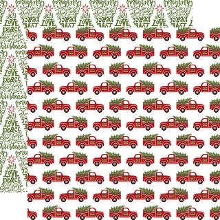 """Celebrate Christmas Double-Sided Cardstock 12""""X12""""-Fresh Cut Trees"""