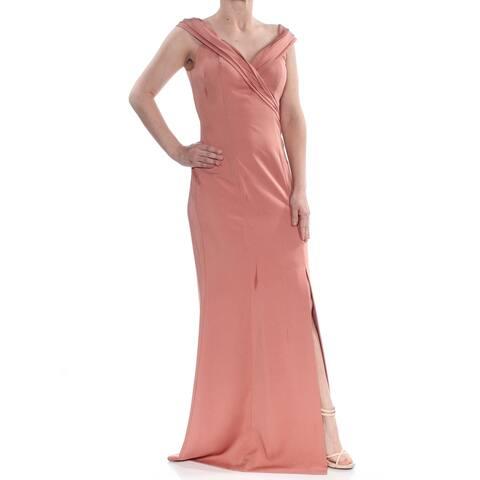 KAY UNGER Womens Pink Sleeveless Full-Length Formal Dress Size 2