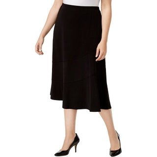 Alfred Dunner Womens Plus A-Line Skirt Knit Midi - 1X