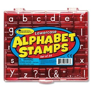 Learning Resources LER0598 Lowercase Alphabet & Punctuation Stamps