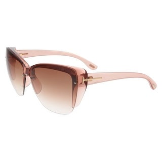 Tom Ford FT0457 74F POPPY Clear Pink Square Sunglasses - clear pink - 67-10-135