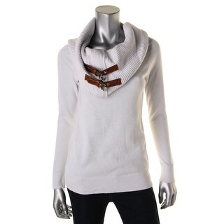 MICHAEL Michael Kors Womens Pullover Sweater Double Buckle Cowl Neck