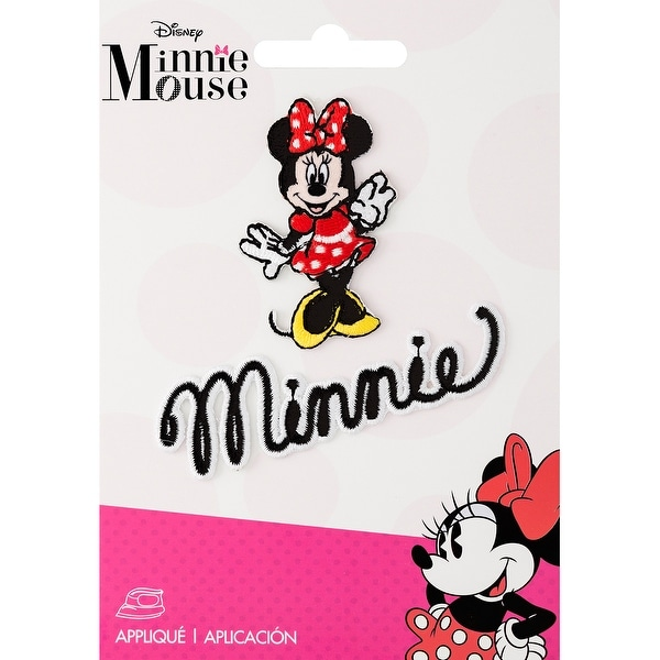 Disney Mickey Mouse Iron-On Applique-Minnie Mouse Body W/Script