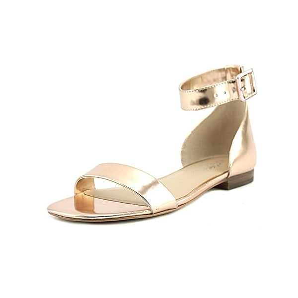 424 Fifth Womens Chantelle Flat Sandals Open Toe Dress - 6.5 medium (b,m)