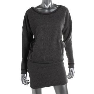 Alternative Apparel Womens Jaspe French Terry Dolman Sleeves Sweaterdress - M
