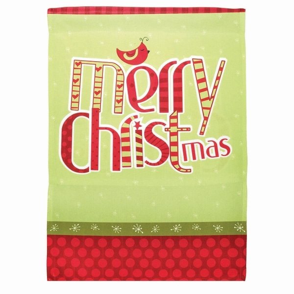 "18"" x 13"" Partridge ""Merry Christmas"" Garden Flag - N/A"