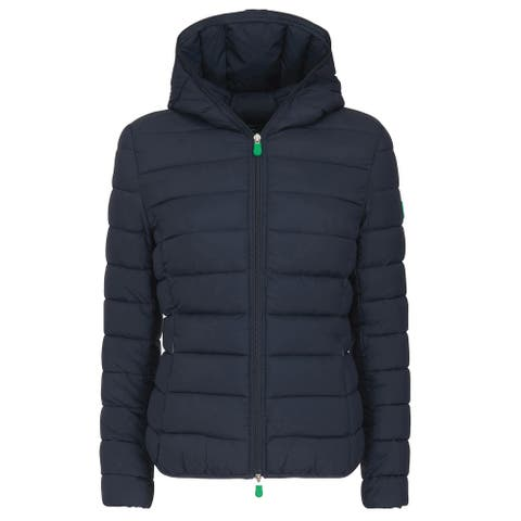 Save The Duck Womens RECY Hooded Jacket 4 / X-Large Blue Black