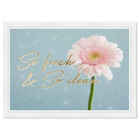 Wynwood Studio Prints 'Fresh and Clean Flower' Blue Wall Art
