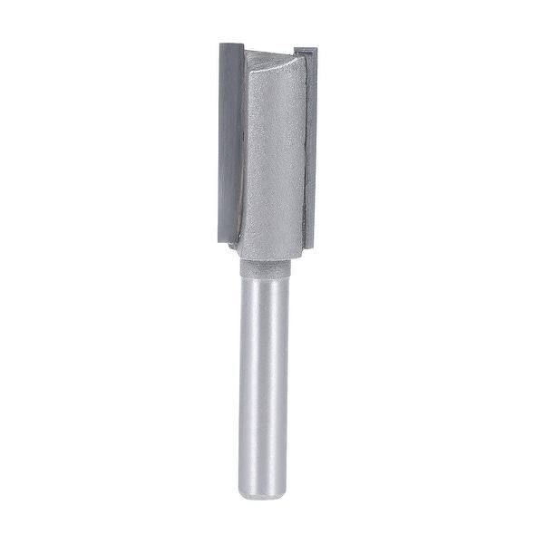 "Router Bit 1/4 Shank 1/2¡° Cutting Dia 2 Straight Flutes HSS Milling Cutter Tool - 1/4x1/2"""