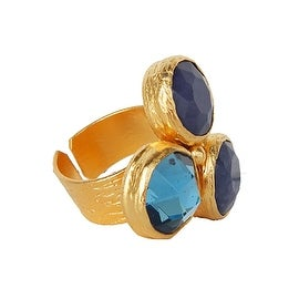 Helene Jewelry Three Stone Cluster Cocktail Ring
