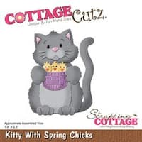 "Kitty With Spring; 1.9""X2.5"" - Cottagecutz Die"