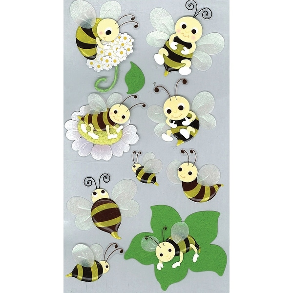 Jolee's Boutique Dimensional Stickers-Bumblebees
