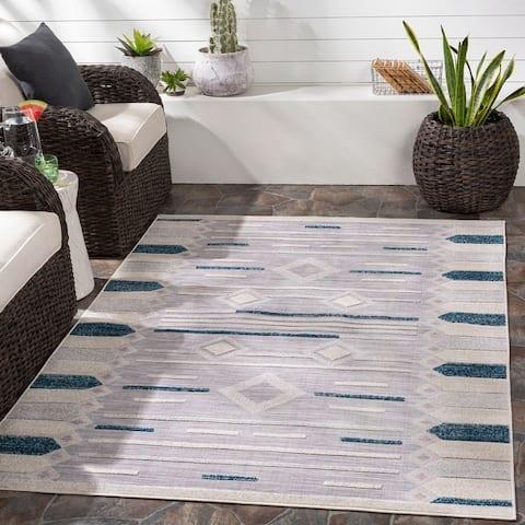 Riah Indoor/ Outdoor Boho Casual Area Rug