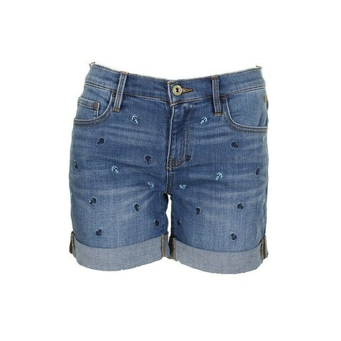 Tommy Hilfiger Blue Womens Size 16 Anchor Cuffed Denim Shorts