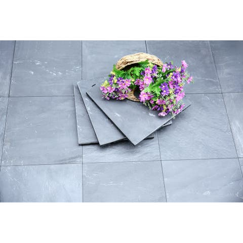 Courtyard Casual Natural Slate Deck Tile, 6 pc Set