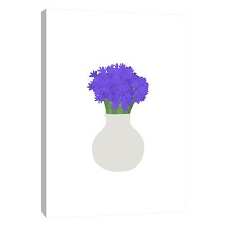 "PTM Images 9-105494  PTM Canvas Collection 10"" x 8"" - ""Hyacinth in Vase"" Giclee Flowers Art Print on Canvas"
