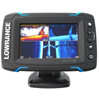 Lowrance 000-12421-001 Elite-5 Ti Touch 83/200 455/800 HDI Transducer Elite-5 Ti Touch Combo - Med/High/455/800 HDI Transom