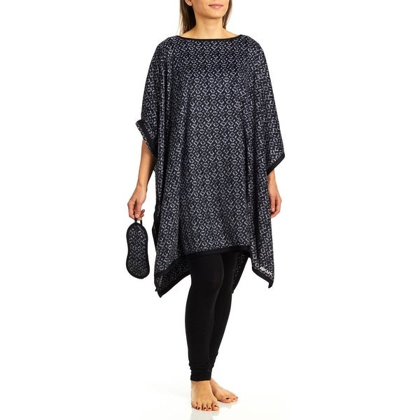 DKNY Women's Sleep Poncho With Sleepmask