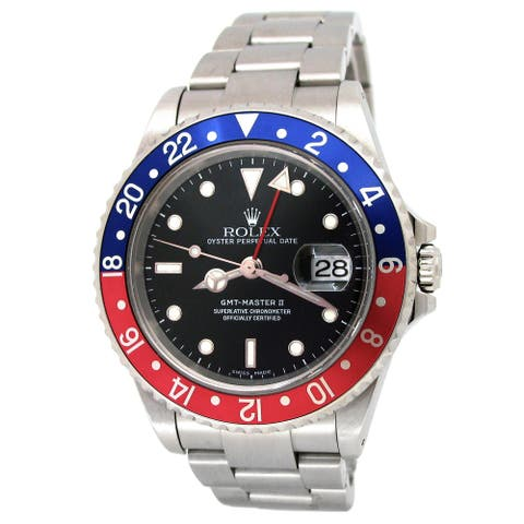 """Pre-owned 40mm Rolex Stainless Steel GMT-Master II """"Pepsi"""" Watch"""