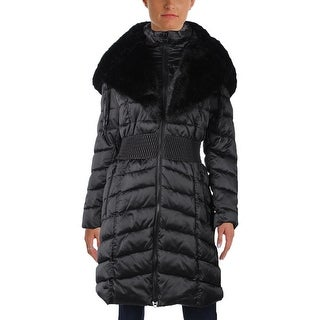 Laundry by Shelli Segal Womens Parka Smocked Faux Fur (2 options available)