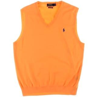 Polo Ralph Lauren Mens Ribbed Trim Pima Cotton Sweater Vest