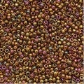 Toho Round Seed Beads 15/0 459 'Gold Lustered Dark Topaz' 8 Gram Tube - Thumbnail 0