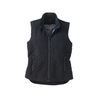 Outback Trading Vest Womens Grand Prix Quilted Micro Suede Zipper 2958