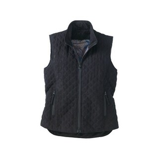 Outback Trading Vest Womens Grand Prix Quilted Micro Suede Zipper
