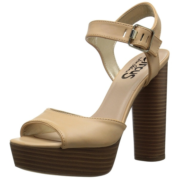 Circus by Sam Edelman Womens Cosmo Open Toe Ankle Strap Platform Pumps