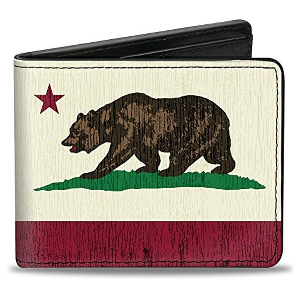 Buckle-Down Bifold Wallet California
