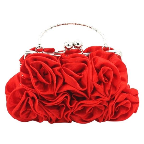 622949006e Shop QZUnique Women's Rose Flower Clutch Bag Evening Party Tote Bag ...