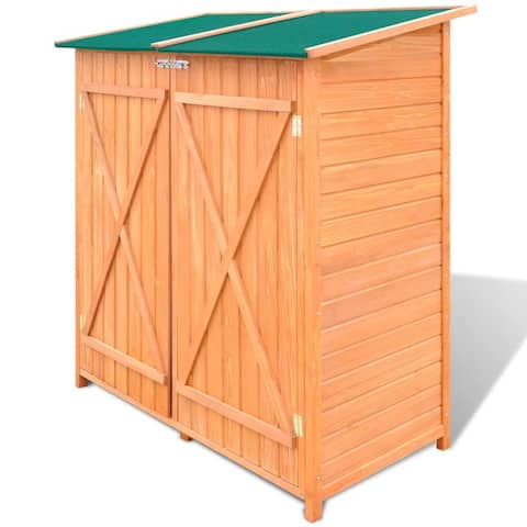 vidaXL Wooden Shed Garden Tool Shed Storage Room Large