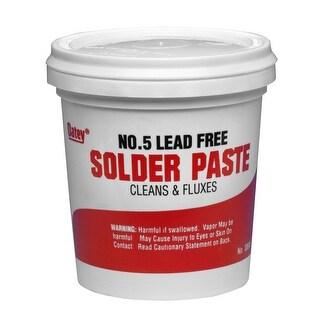 Oatey 30013 No. 5 Lead-Free Paste Flux, 4 Oz, Amber
