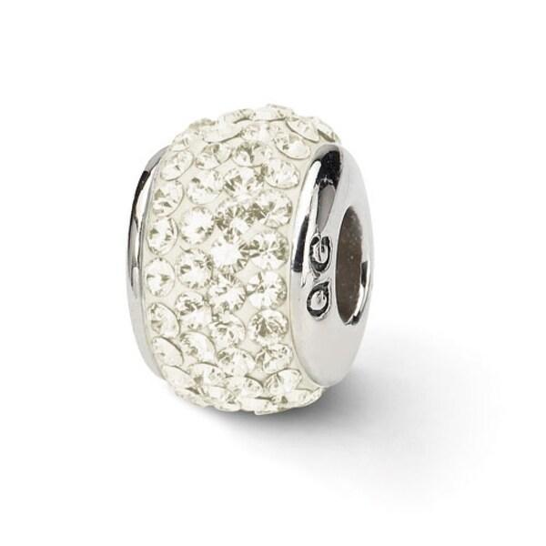 Sterling Silver Reflections Cream Full Swarovski Elements Bead (4mm Diameter Hole)