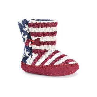 MUK LUKS Kids' Stars and Stripes Baby Slipper Slide - 6-12 months m us infant