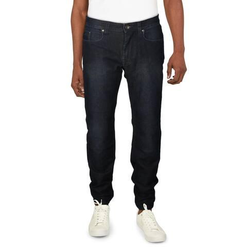 Robert Graham Mens Yates Jeans Denim Mid-Rise - Indigo