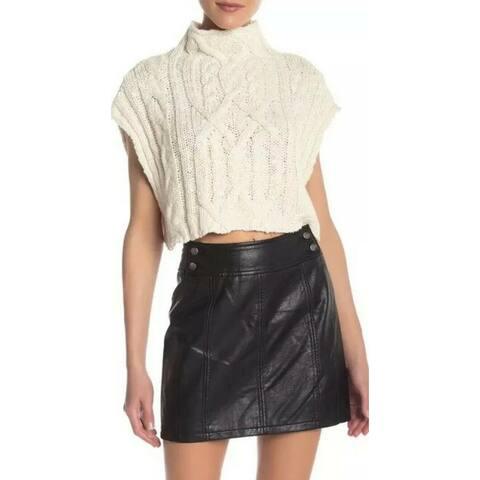 Free People White Ivory Womens Size Large L Sleeveless Sweater