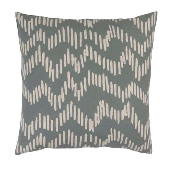"18"" Broken Lines Rhinoceros Gray and Khaki Brown Decorative Throw Pillow-Down Filler"