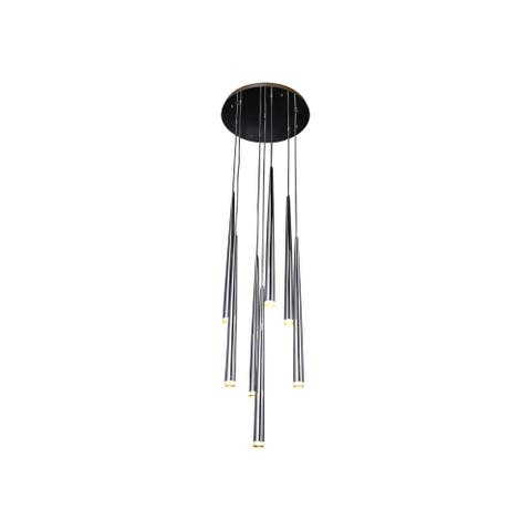 Avenue Lighting HF2107CH Seven Light Pendant Highland Ave. Chrome - One Size