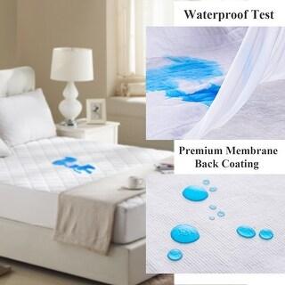 VECELO Hypoallergenic Waterproof Bed Mattress Protector/Cover, Vinyl Free, Twin/Full/Queen Size, White