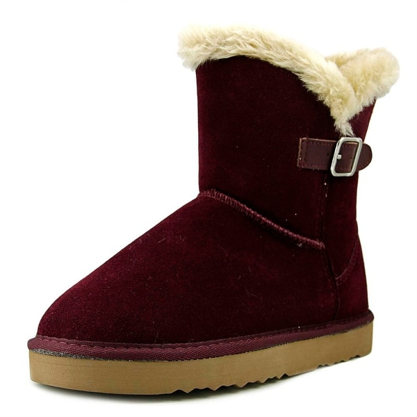 Style & Co Tiny 2 Women Round Toe Suede Burgundy Winter Boot