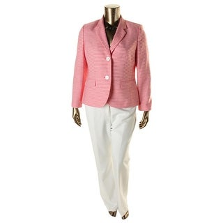 Le Suit Womens The Hamptons 2PC Striped Pant Suit