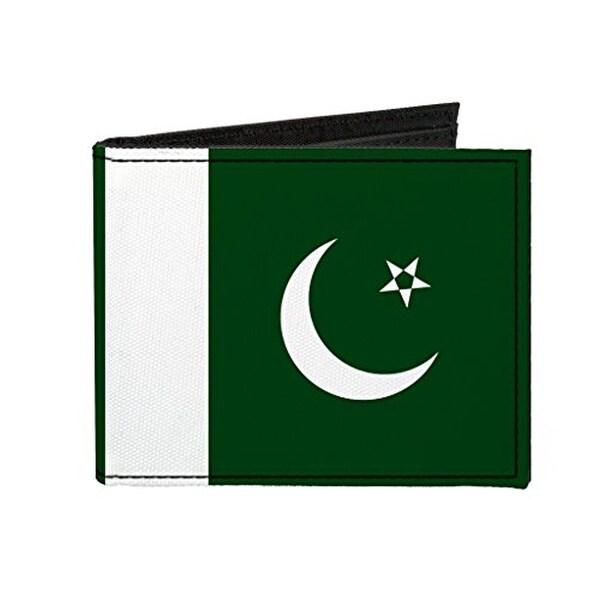 Buckle-Down Canvas Bi-fold Wallet - Pakistan Flag Accessory