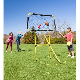 HearthSong Football and Disc Target Kick 'n Toss Set - One-size