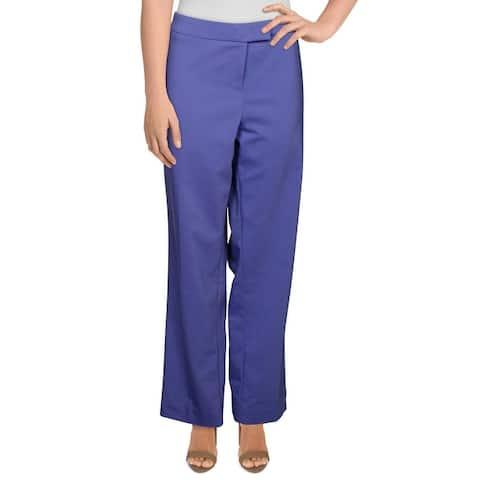 Anne Klein Womens Plus Fashion Book Dress Pants Woven Stretch