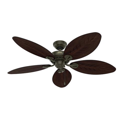 """Hunter 54"""" Bayview Outdoor Ceiling Fan with Pull Chain"""