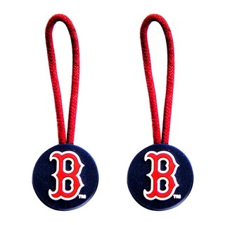 Boston Red Sox Zipper Pull Charm Tag Set Luggage Pet ID MLB