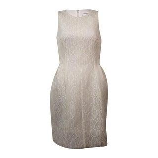 Calvin Klein Women's Sleeveless Lace Fit & Flare Dress