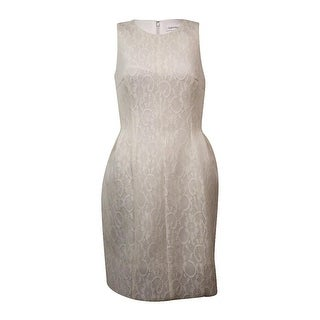 Calvin Klein Women's Sleeveless Lace Fit & Flare Dress