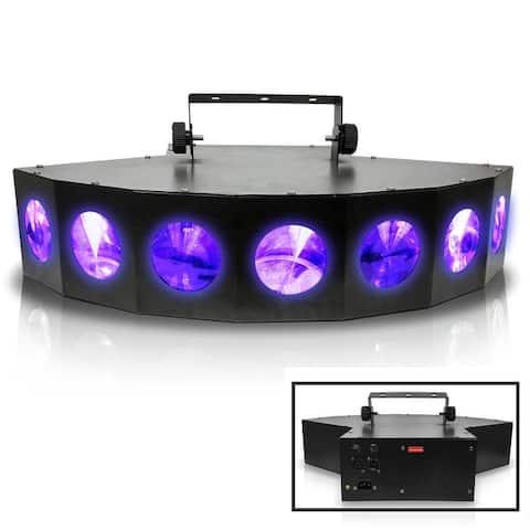 Professional DJ Multi Beam LED 7 Way Light with DMX - Black/Multi